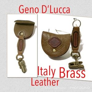 Geno Dlucca pocket watch coin wallet key fob brass